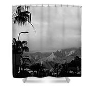 Tenerife Mountains Shower Curtain