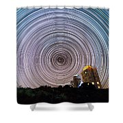 Tenerife Star Trails Shower Curtain