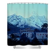 Tengboche Monastery Shower Curtain