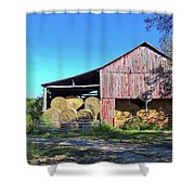 Tennessee Hay Barn Shower Curtain