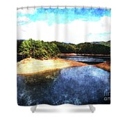 Tennessee Reservoir Shower Curtain