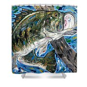 Tennessee River Largemouth Bass Shower Curtain
