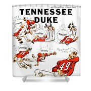 Tennessee Versus Duke 1955 Football Program Shower Curtain