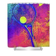 Tennis Art Version 1 Shower Curtain
