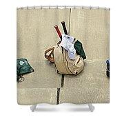 Tennis Banner Shower Curtain