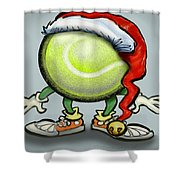 Tennis Christmas Shower Curtain