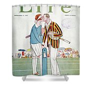Tennis Court Romance, 1925 Shower Curtain