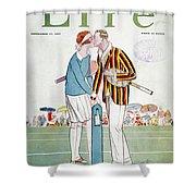 Tennis Court Romance, 1925 Shower Curtain