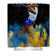 Tenniswoman 57 Shower Curtain