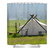 Tent Living Montana 2010 Shower Curtain