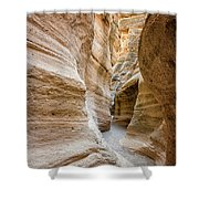 Tent Rocks Slot Canyon 2 - Tent Rocks National Monument New Mexico Shower Curtain