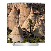 Tent Rocks Wilderness Shower Curtain