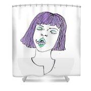 Tentatongue Shower Curtain