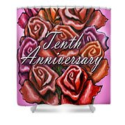 Tenth Anniversary Shower Curtain