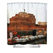Tents Along The Tiber Shower Curtain