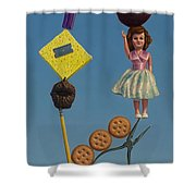Tenuous Still-life 2 Shower Curtain