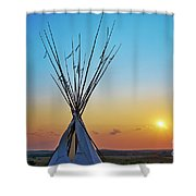 Tepee At Sunset Shower Curtain