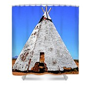 Tepee Trading Post Shower Curtain