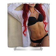 Teresa Sands Glam Shower Curtain