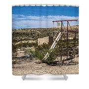Terlingua Ghost Town #5 Shower Curtain