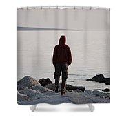 Terminal Beach Shower Curtain
