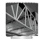 Terminal Building Shower Curtain
