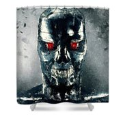 Terminator Oil Pastel Sketch Shower Curtain