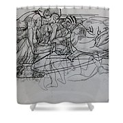 Tortured Faces Shower Curtain