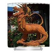 Dragon Statue Shower Curtain