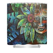 Terra Pacifica By Reina Cottier Nz Artist Shower Curtain