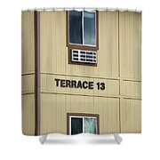 Terrace 13 Ithaca College New York Signage Shower Curtain
