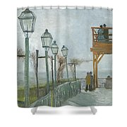 Terrace And Observation Deck At The Moulin De Blute Fin Shower Curtain