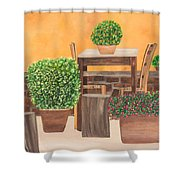 Terrace In Tuscany Shower Curtain