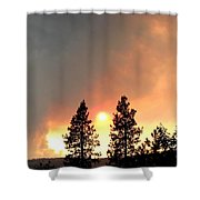 Terrace Mountain Fire 2  Shower Curtain
