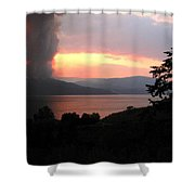 Terrace Mountain Fire 4  Shower Curtain