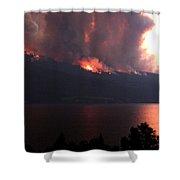 Terrace Mountain Fire 5  Shower Curtain