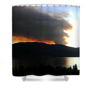 Terrace Mountain Fire Shower Curtain