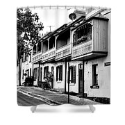 Terraced Houses - Black And White By Kaye Menner Shower Curtain