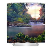 Terracotta Crossing Sold Shower Curtain