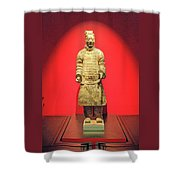 Terracotta Warrior  A Brave Commanding Officer   Shower Curtain