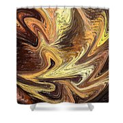 Terrestrial Fire Abstract Shower Curtain