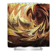 Terrestrial Flames Abstract  Shower Curtain