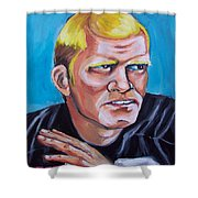 Terry Badshaw Rookie Shower Curtain
