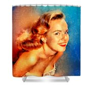Terry Moore, Vintage Hollywood Actress Shower Curtain