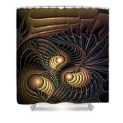 Tertiary Harmonics Shower Curtain