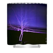 Tesla Coil Shower Curtain