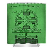 Tesla Electro Magnetic Motor Patent Drawing 2f Shower Curtain