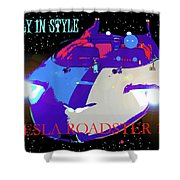 Tesla Roadster 10 Shower Curtain