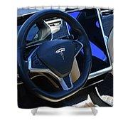 Tesla S85d Cockpit Shower Curtain