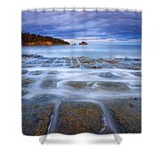 Tesselated Sunset Shower Curtain